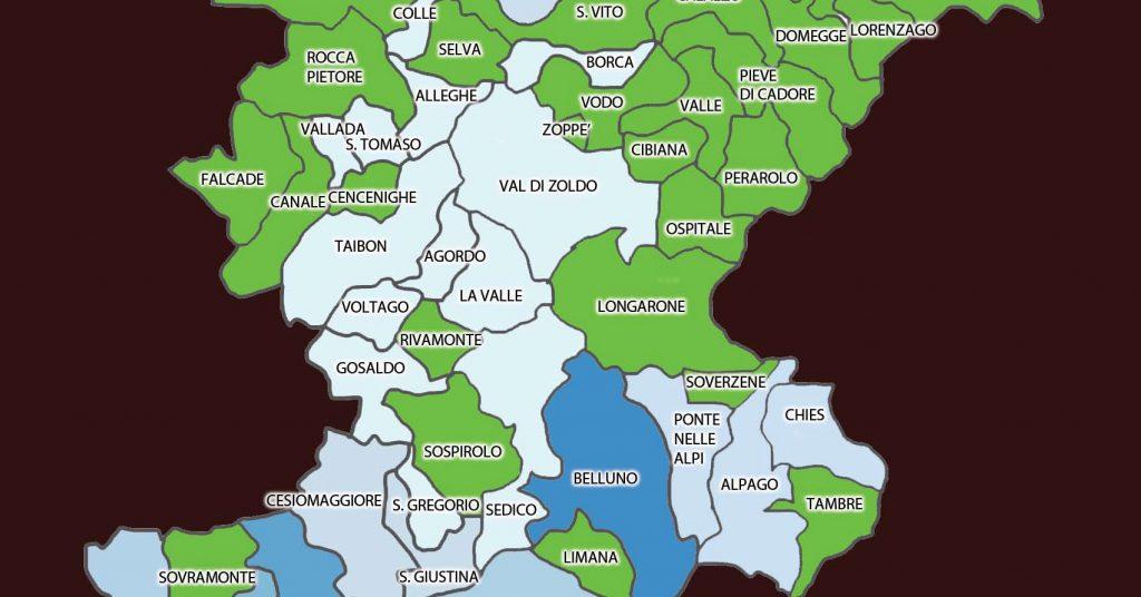 Cartina Comuni Veneto.Ecco Dov E La Nuova Mappa Del Coronavirus In Provincia Di Belluno