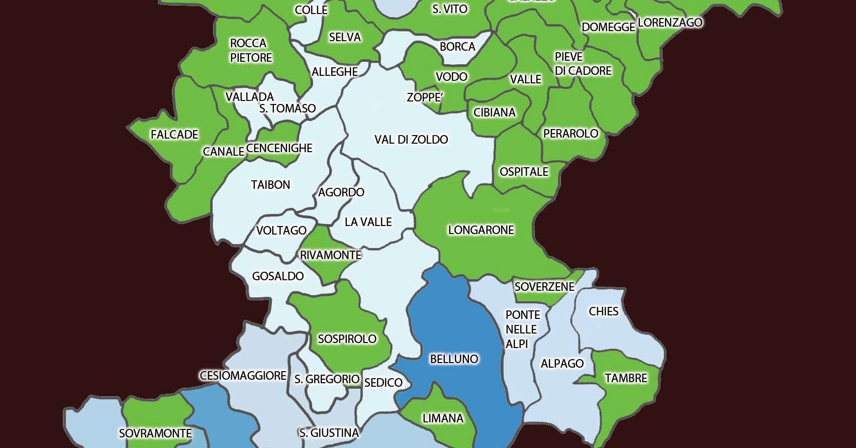 Cartina Politica Del Veneto.Ecco Dov E La Nuova Mappa Del Coronavirus In Provincia Di Belluno