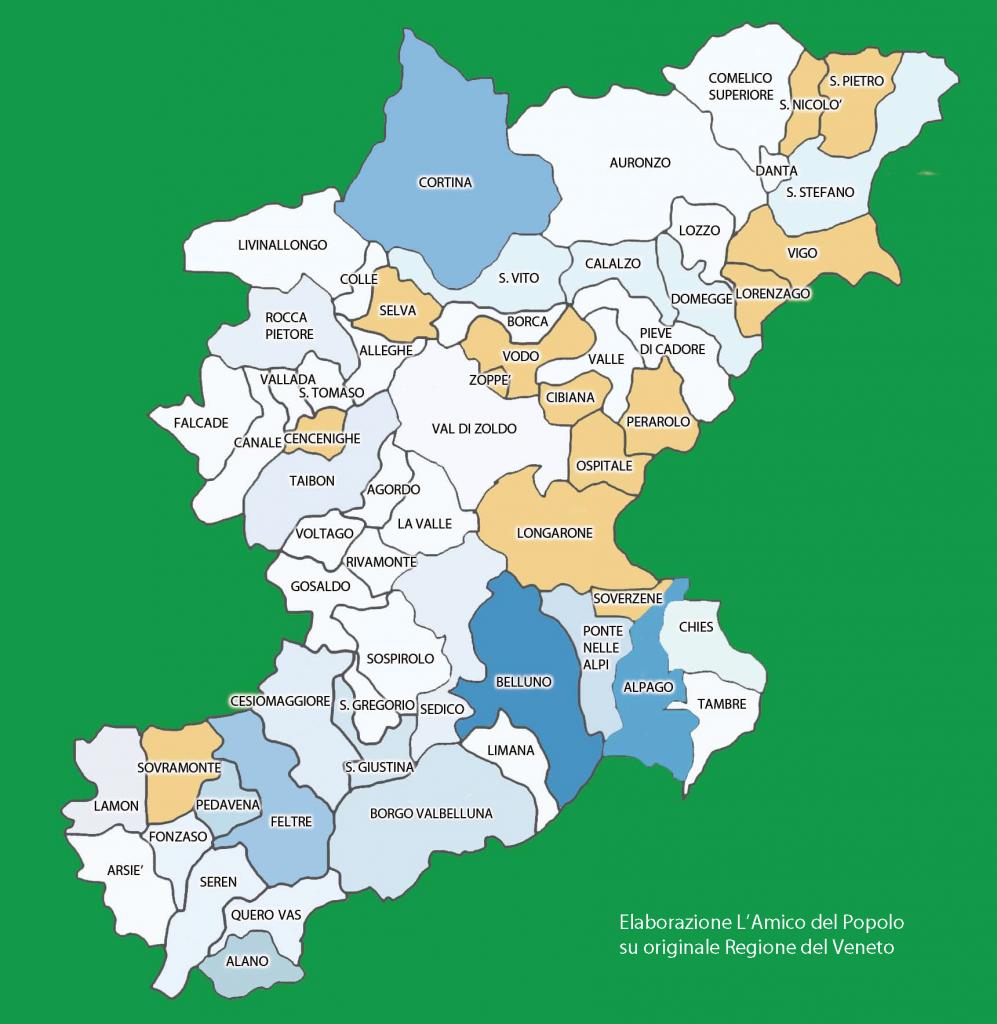 Cartina Geografica Cartina Comuni Della Provincia Di Cremona.Le Province Del Veneto Cartina