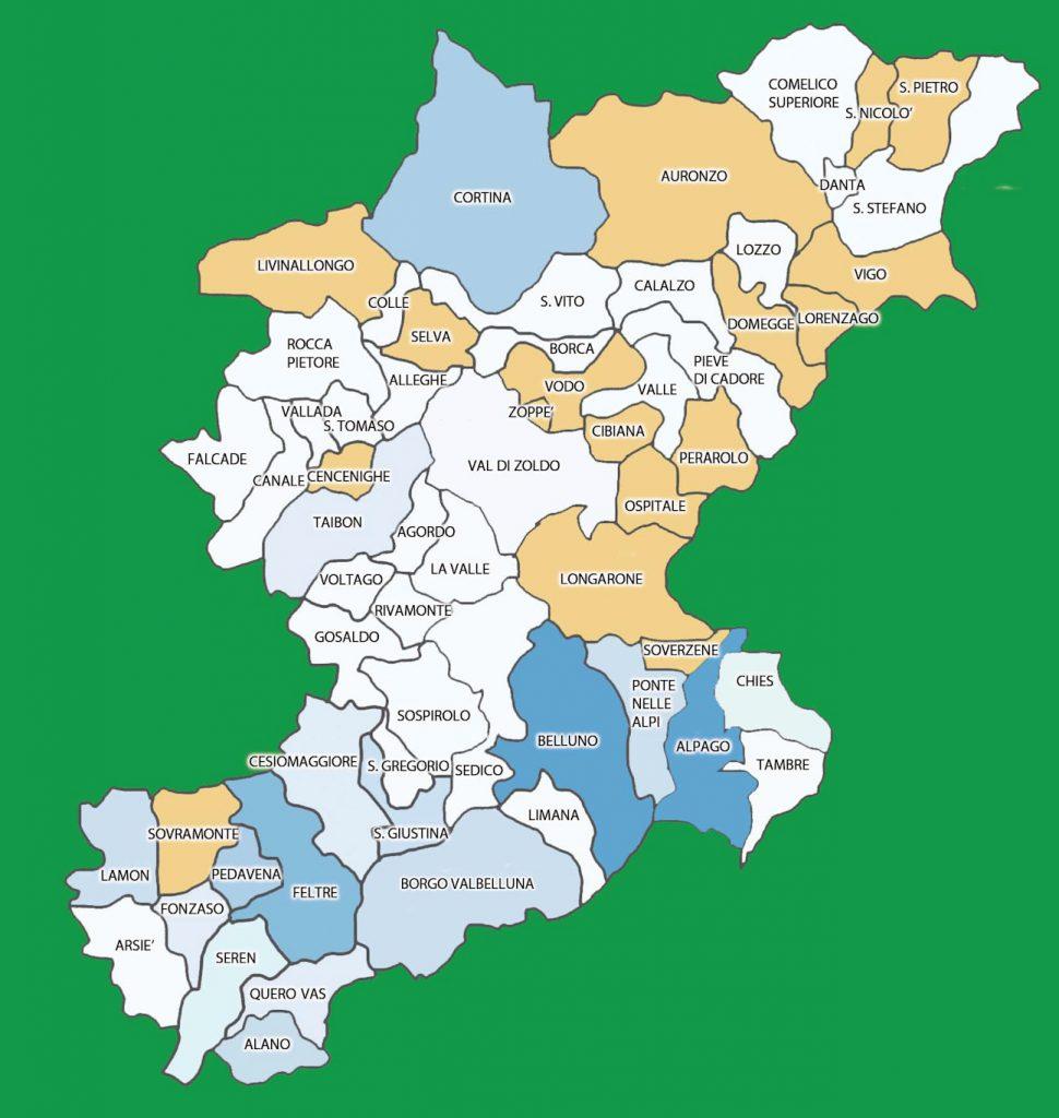 Veneto Regione Cartina.Covid 19 Ecco Dov E Oggi Avanza In Cadore E Agordino