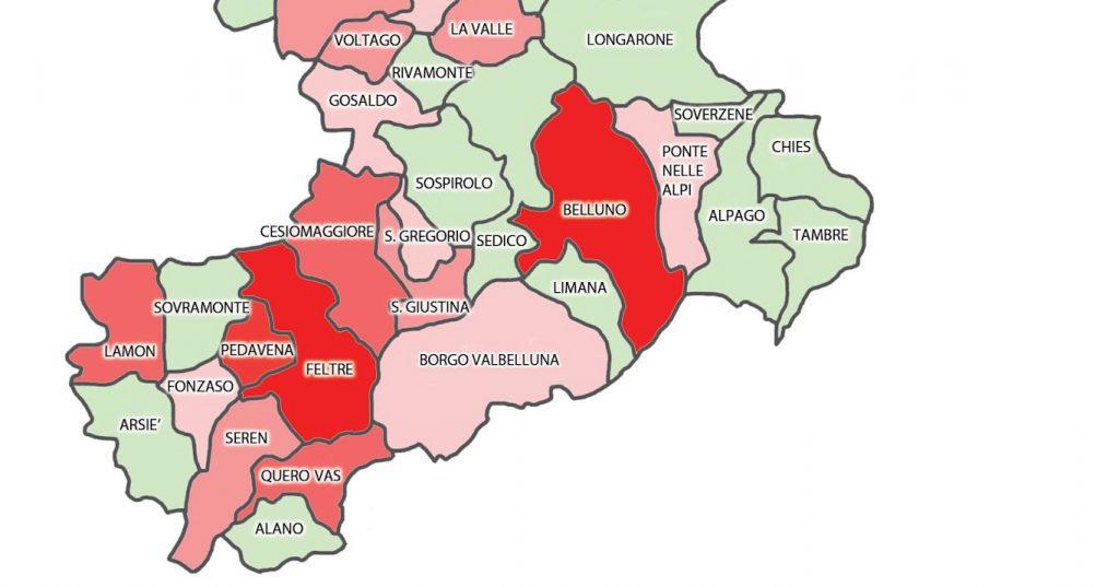 Cartina Dei Comuni Del Veneto.Coronavirus In Provincia Di Belluno Ecco Dov E